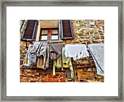 Clothesline Framed Print