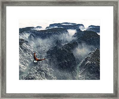 Cloud Canyon Framed Print by Jim Coe