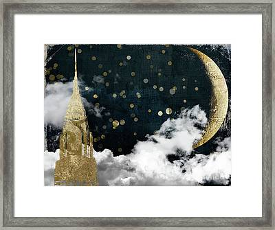 Cloud Cities New York Framed Print by Mindy Sommers