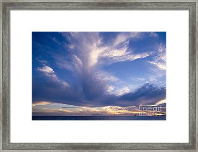 Cloud Formations Framed Print by Mary Van de Ven - Printscapes