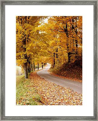 Cloudland Rd., Woodstock Vt Framed Print by Butch Lombardi