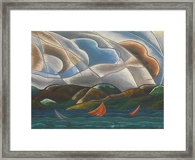 Clouds And Water Framed Print by Arthur Dove
