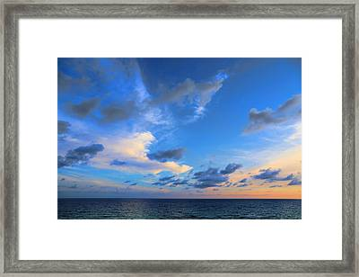 Clouds Drifting Over The Ocean Framed Print