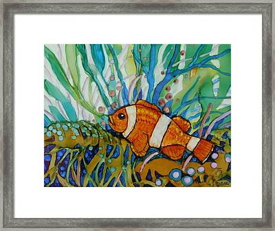 Clown Fish Framed Print by Joan Clear