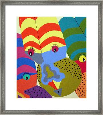 Clowns Framed Print by Tammera Malicki-Wong