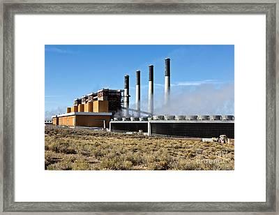 Coal Fired Power Plant Framed Print by Inga Spence