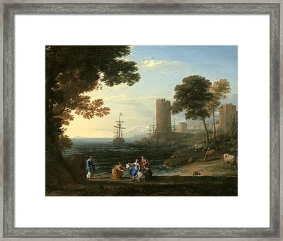 Coast View With The Abduction Of Europa Framed Print