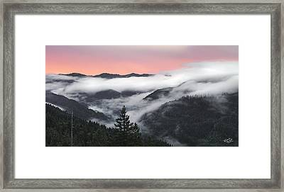 Coastal Range Sunrise Panoramic Framed Print