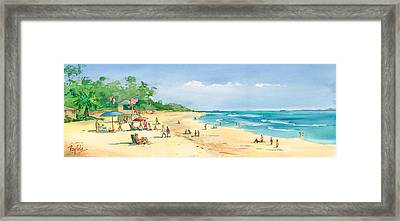 Coastal View Framed Print by Ray Cole
