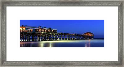 Cocoa Beach Pier At Twilight Framed Print