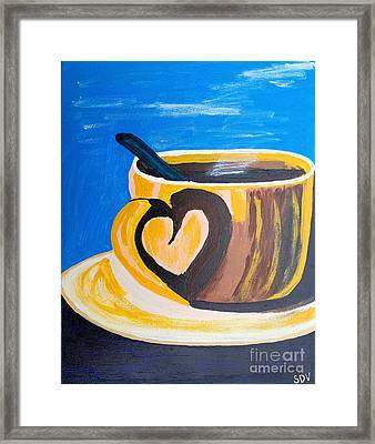 Coffee Cup Love Framed Print