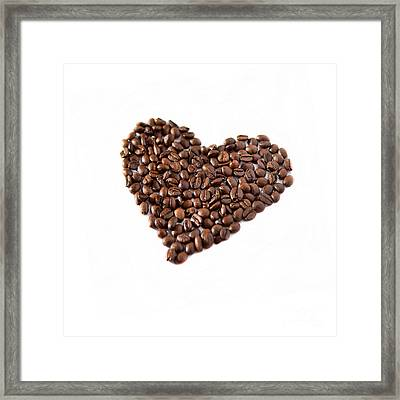 Coffee Heart Framed Print by Linde Townsend