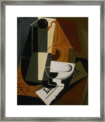 Coffeepot Framed Print by Juan Gris