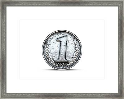 Coin Number One Framed Print