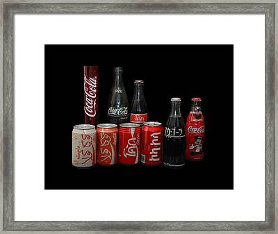 Coke From Around The World Framed Print by Rob Hans