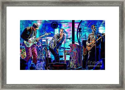 Coldplay Collection Chris Martin Framed Print by Marvin Blaine