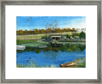Framed Print featuring the painting Cole Hill Pond by Melly Terpening