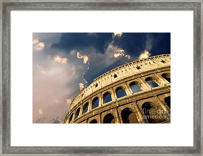 Coliseum. Rome. Lazio. Italy. Europe Framed Print