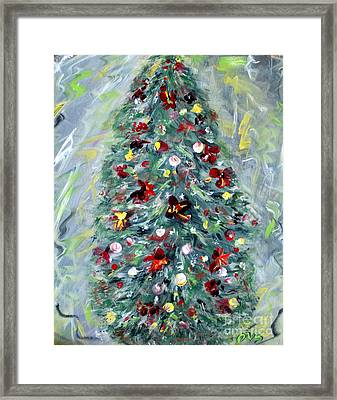 Christmas Tree. Green Framed Print