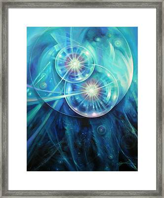 Collide Framed Print by Lucy West