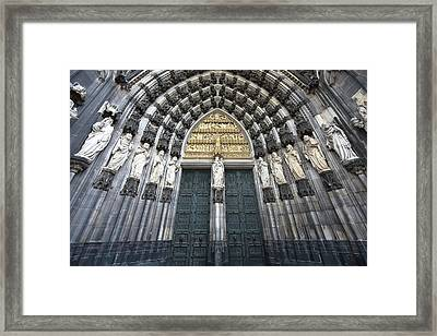 Cologne Germany  The Cathedral Framed Print by Nicole Riley