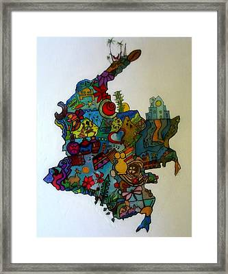 Colombia Framed Print by MikAn 'sArt