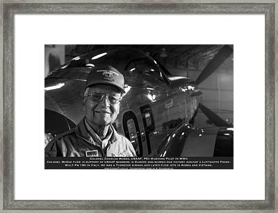Colonel Charles Mcgee United States Fighter Pilot  Framed Print by John  Bradley