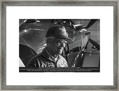 Colonel Charles Mcgee United States Fighter Pilot  Framed Print by John Martin Bradley