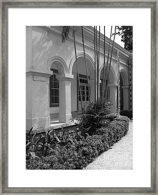 Colonial Architecture Framed Print by Yali Shi