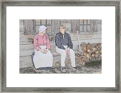 Colonials At Rest Framed Print by Robert Nelson