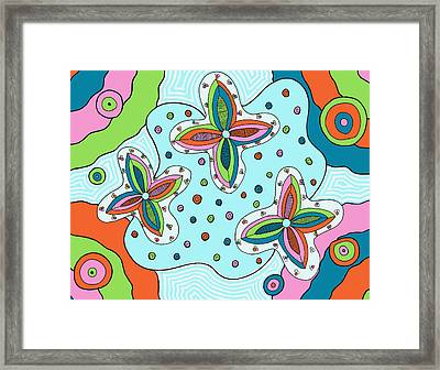 Framed Print featuring the drawing Color Collision by Jill Lenzmeier