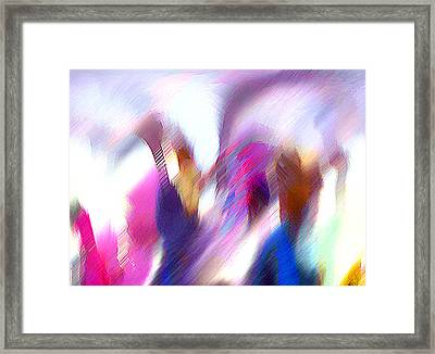 Color Dance Framed Print by Anil Nene