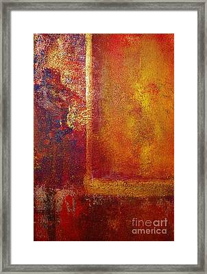 Color Fields Red And Gold Framed Print