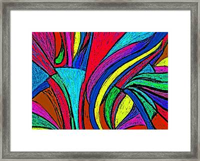 Color Flow Framed Print by Cassandra Donnelly