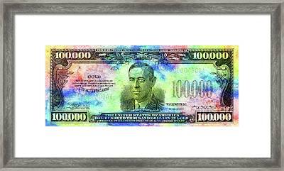 Color Of Money Framed Print by Jon Neidert