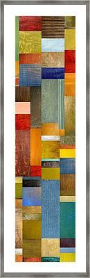 Color Panels With Blue Sky Framed Print