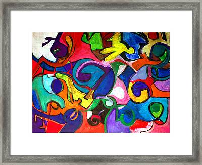 Color Shape Study Framed Print by Jame Hayes