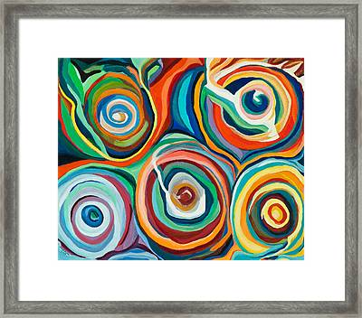 Color Storms Framed Print