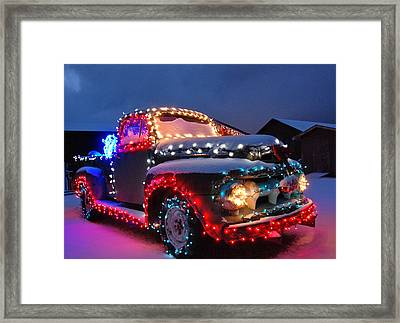 Colorado Christmas Truck Framed Print by Bob Berwyn