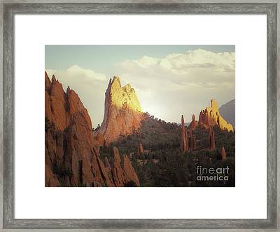 Framed Print featuring the photograph Colorado Garden Of The Gods Landscape by Andrea Hazel Ihlefeld