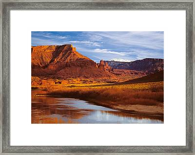 Colorado River At Fisher Towers Framed Print by Utah Images