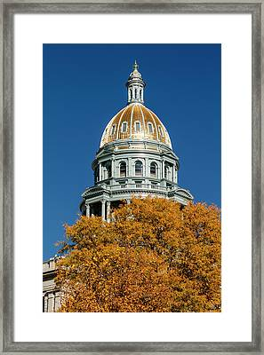 Colorado State Capitol Building Framed Print by Teri Virbickis
