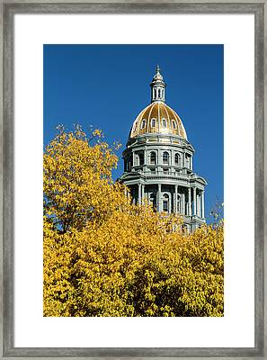 Colorado State Capitol In Denver Co Framed Print by Teri Virbickis