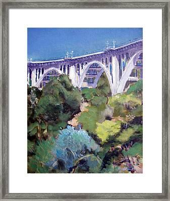 Colorado Street Bridge Framed Print by Richard  Willson