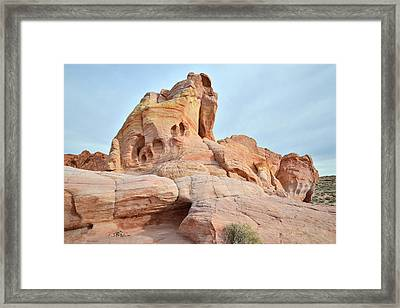 Framed Print featuring the photograph Colored Castle In Valley Of Fire by Ray Mathis