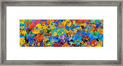 Colorful Abstract Mural Framed Print by Bruce Nutting
