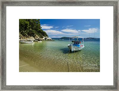 Colorful Boat Framed Print