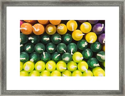 Colorful Candles Framed Print by Tom Gowanlock