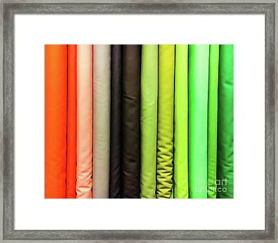 Colorful Fabrics Selection Framed Print