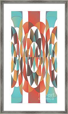 Colorful Geometric Abstract Framed Print
